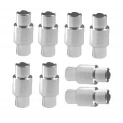 Piece détachée Roller - entretoises Alu 6mm (X8) silver