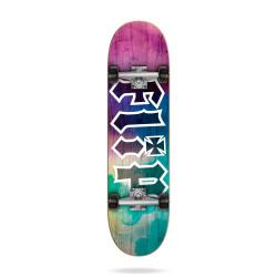 """HKD Tie Dye Purple 7.5"""" FLIP SKATEBOARD"""