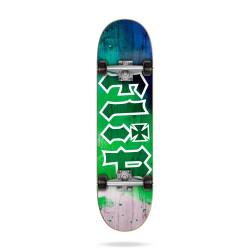 """HKD Tie Dye GREEN 7.88"""" FLIP SKATEBOARD"""