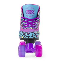 RIO LEOPARD QUAD ROLLER SKATES