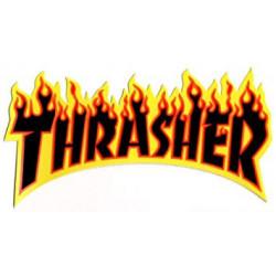 AUTOCOLLANT THRASHER FLAMME...