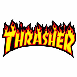 Flame Yellow THRASHER Sticker