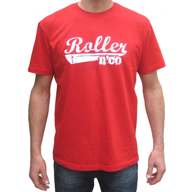Textile Homme - tee shirt roller n co rouge mixte