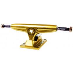 "Gold 5.0"" High TRUCKS IRON SKATE"