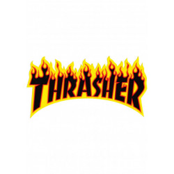 BIG STICKERS jaune THRASHER