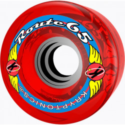 Roue Quad, Longboard - Route 65 rouge 65mm -78a roue kryptonics