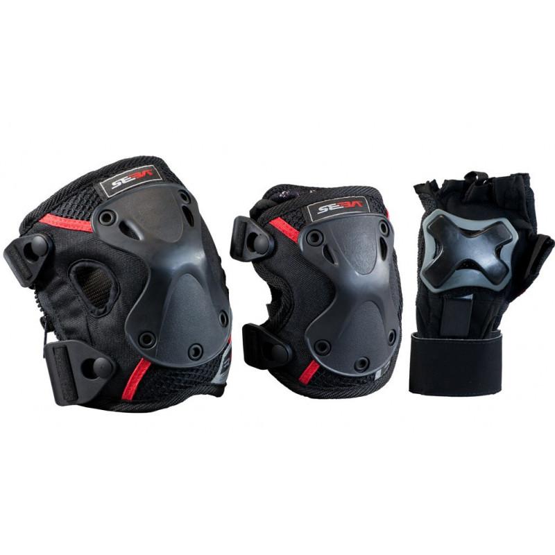 Protections Roller, Skate, Longboard - Tri PACK PRO SEBA protections