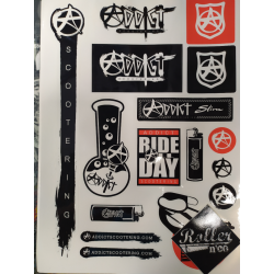STICKERS ADDICT PLANCHE