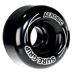 Roues rollers quad - AEROBIC NOIRE 62MM-85A X8 SURE GRIP ROUES QUAD