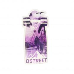 Autocollant D STREET...