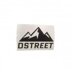 Autocollant D STREET Logo B&W
