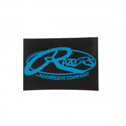 RAZORS Logo Sticker Blue