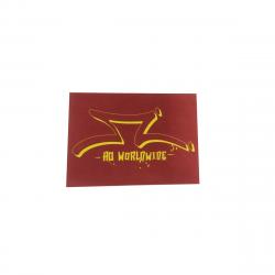 AO SCOOTER Red Logo Sticker