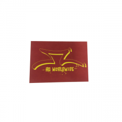 Sticker AO SCOOTER Logo Rouge