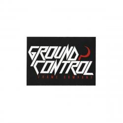 GROUND CONTROL Black Sticker