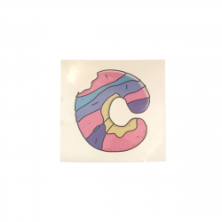 CHUBBY Wheels Logo Sticker