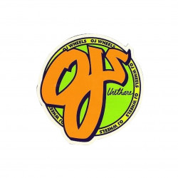 OJ Wheels Logo Sticker