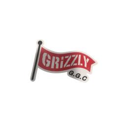 GRIZZLY Griptape Flag Sticker