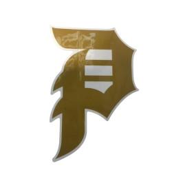 PRIMITIVE P Logo Gold Sticker