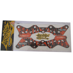 Wildstyle Stickers orange pour platine seba Deluxe