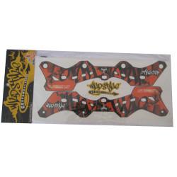 Wildstyle Stickers orange pour platine seba Deluxe