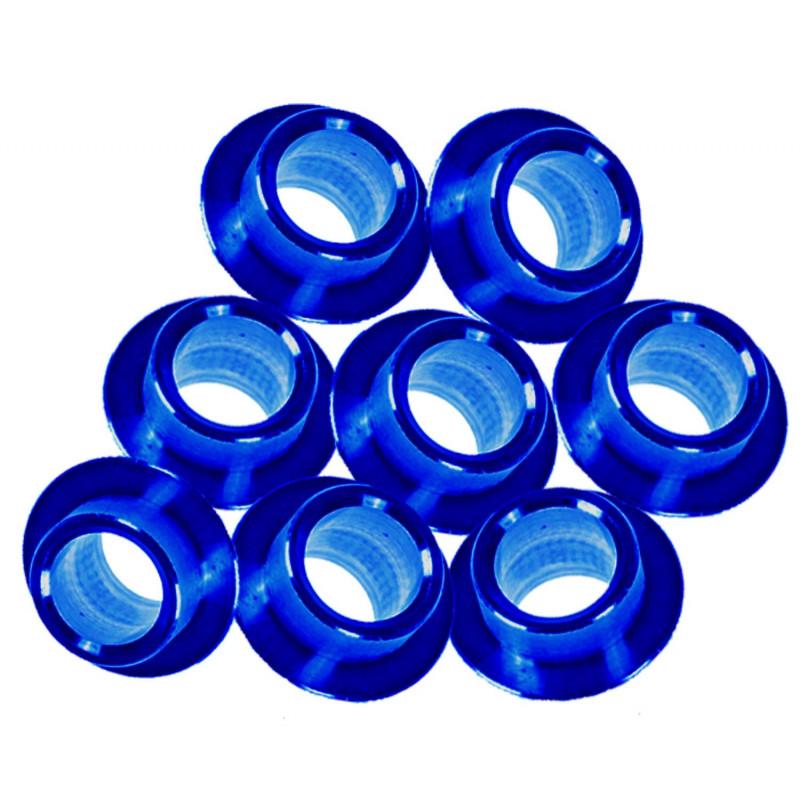 piece détachée roller - entretoises Salomon Alu 8mm (X8) bleu