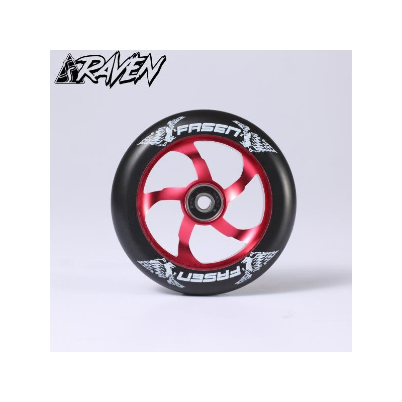 ROUE FASEN RAVEN rouge 110MM TROTTINETTE