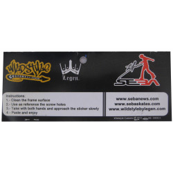 Accessoire Roller freeride fitness - Wildstyle Stickers Seba Vert pour platine Deluxe