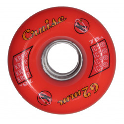 Roue roller quad derby - Kryptonics Cruise rouge 62mm - 78a