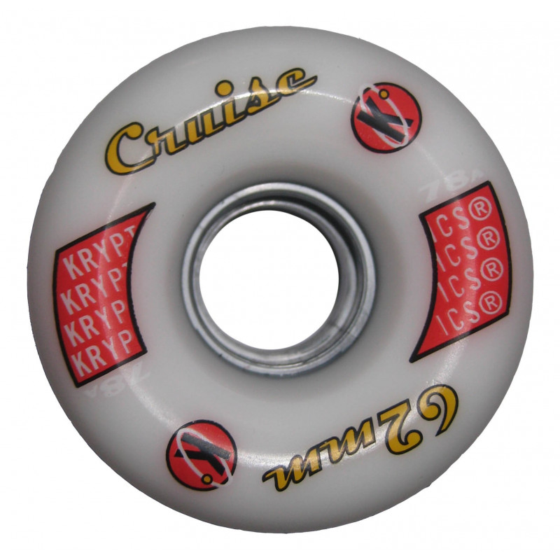 Roue roller quad derby - Kryptonics Cruise blanche 62mm - 78a