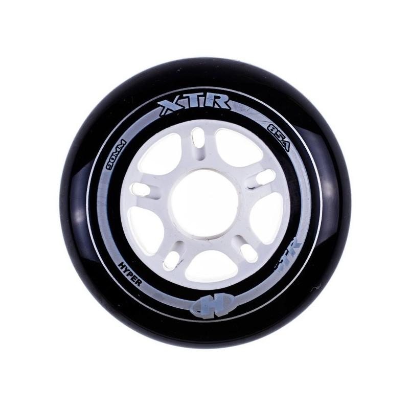 Roue hyper XTR noire 85mm - 85a, roue roller hyper fitness randonnée