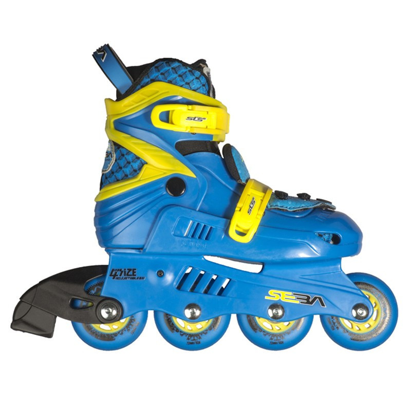 SEBA JUNIOR bleu jaune ROLLER REGLABLE