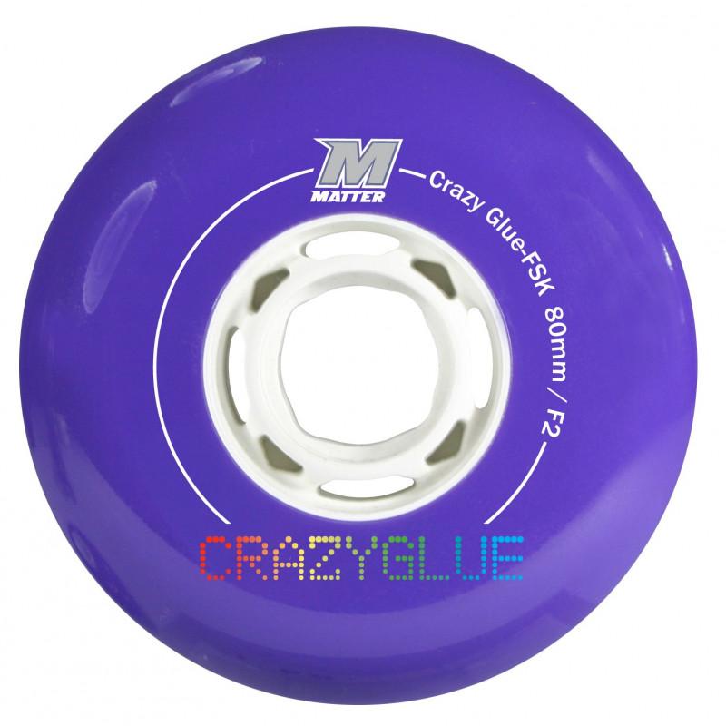 Roue roller freeskate, slalom, freeride - Roue Matter Crazy glue 80mm - 84a