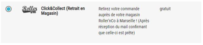 Click and collect (retrait en magasin) roller n co Marseille, skate, roller, trottinette, patinage, hockey et bmx shop